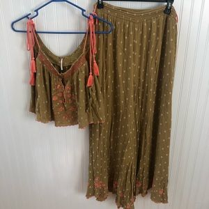 Two piece free people set